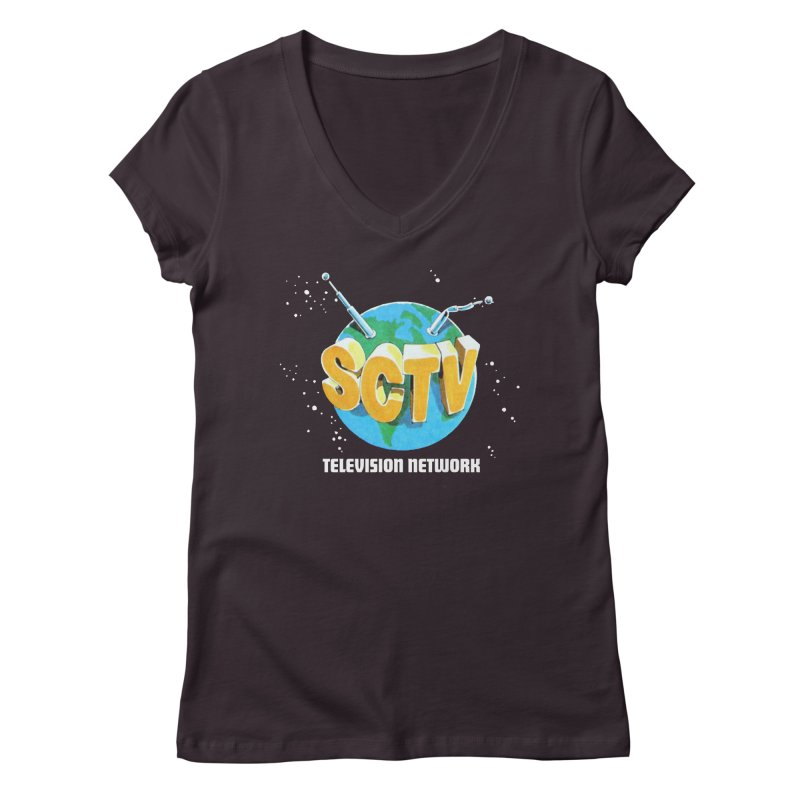 SCTV Global Women's Regular V-Neck by The Second City