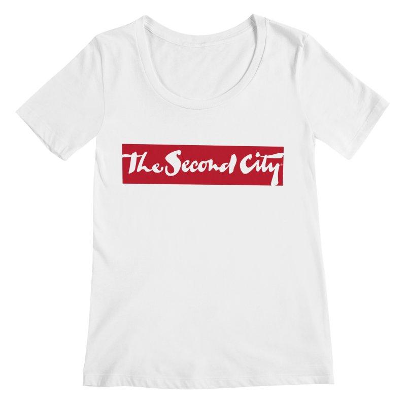 Red Flag Women's Regular Scoop Neck by secondcity's Artist Shop