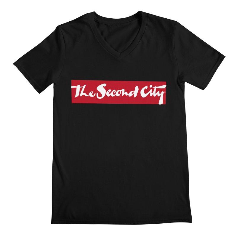 Red Flag Men's Regular V-Neck by secondcity's Artist Shop