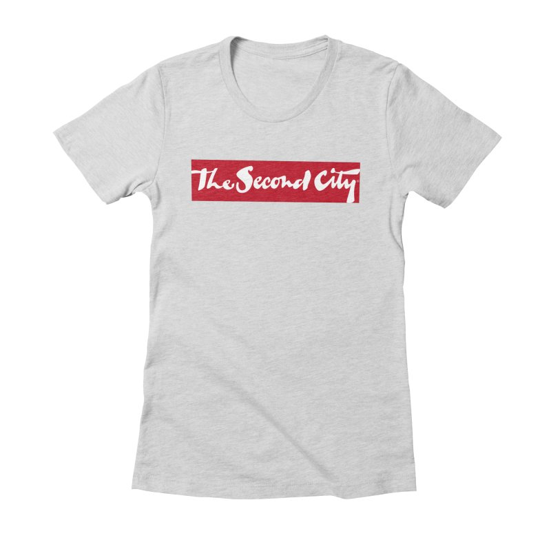 Red Flag Women's Fitted T-Shirt by secondcity's Artist Shop