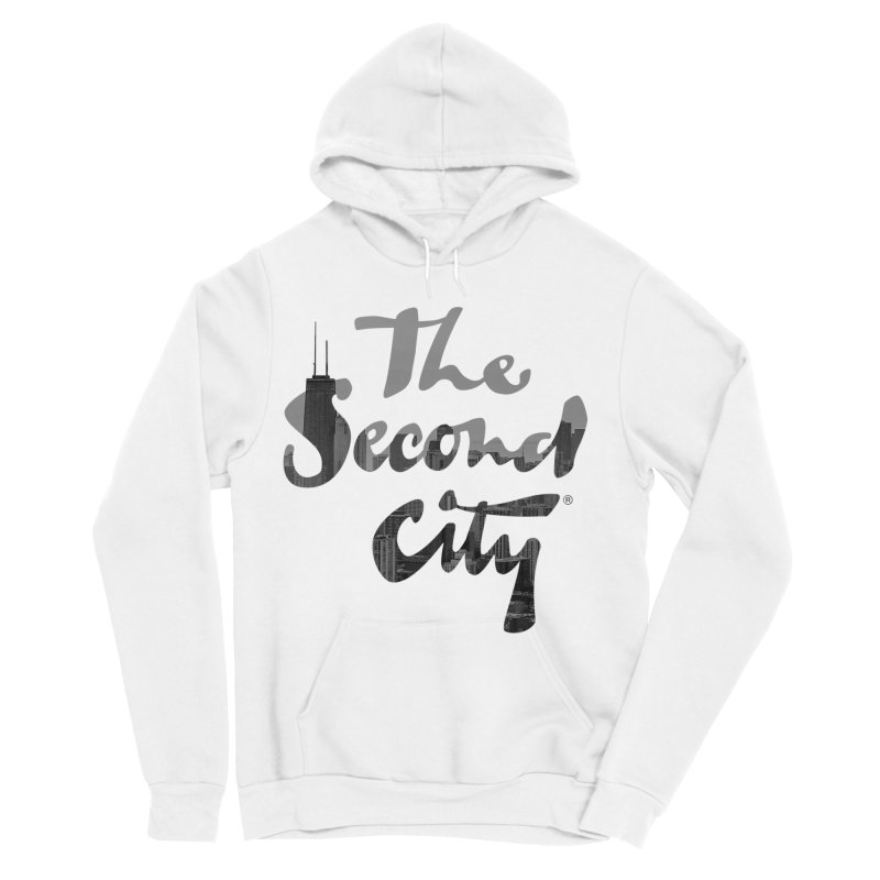 Stacked Skyline in Men's Sponge Fleece Pullover Hoody White by The Second City