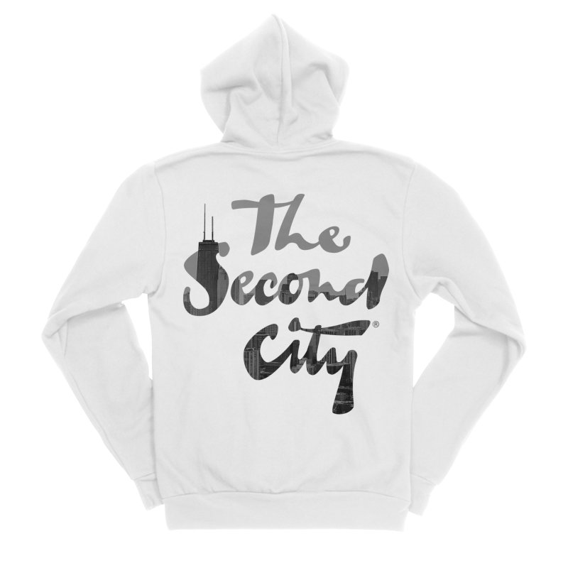 Stacked Skyline Men's Sponge Fleece Zip-Up Hoody by The Second City