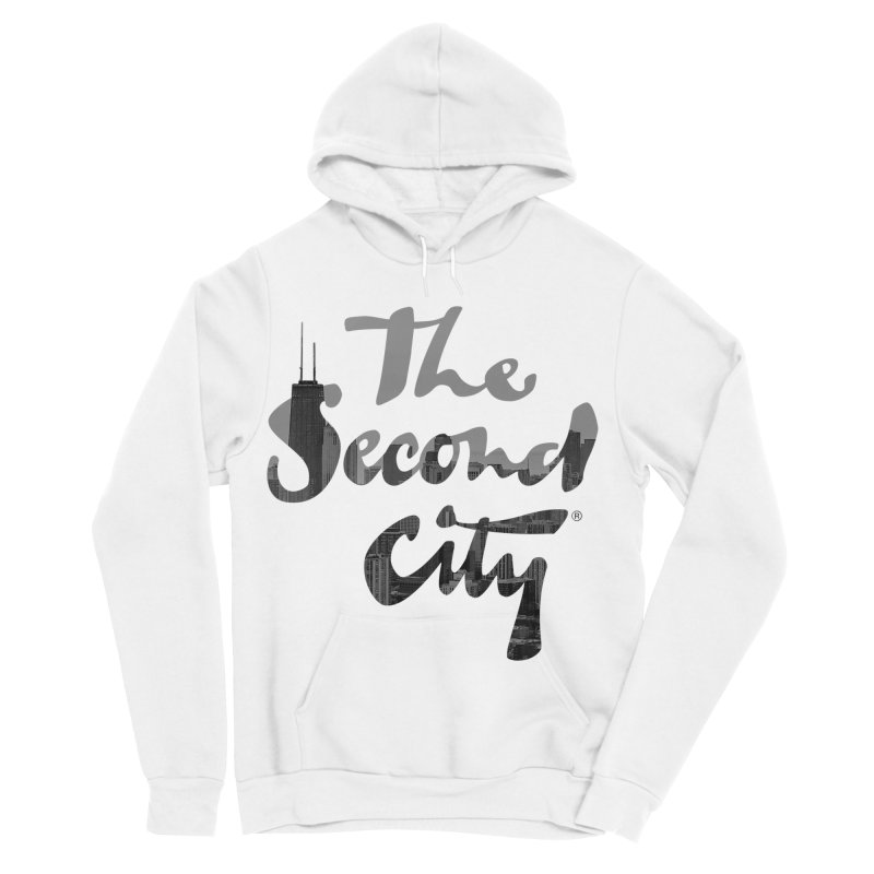 Stacked Skyline Men's Sponge Fleece Pullover Hoody by The Second City