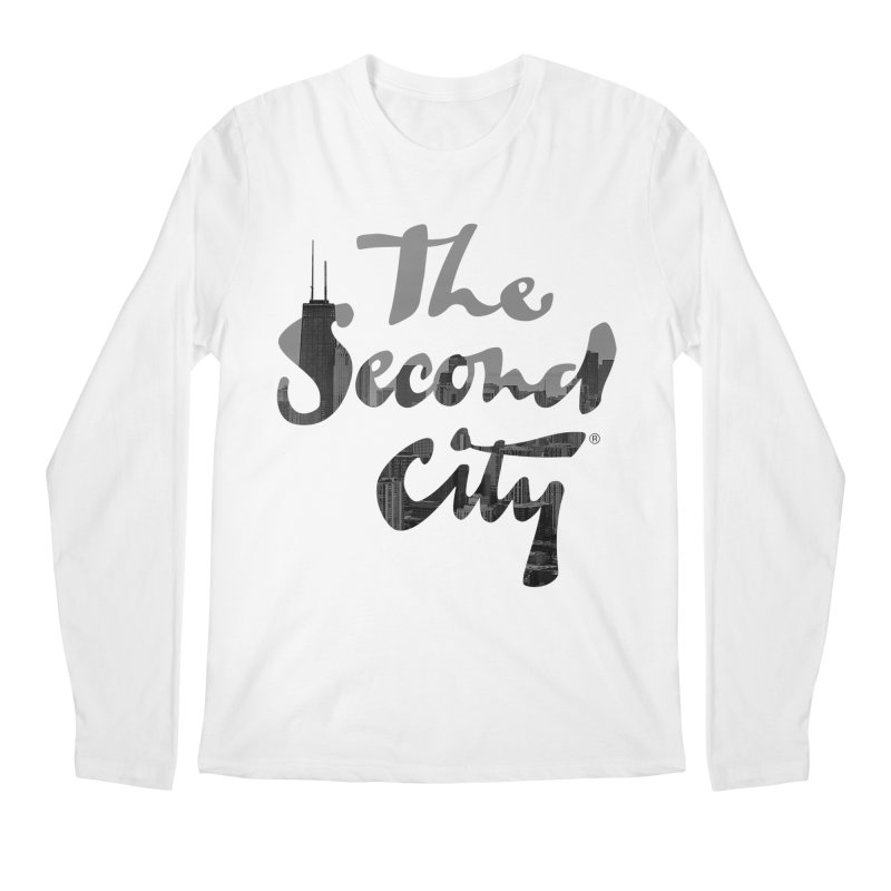 Stacked Skyline Men's Longsleeve T-Shirt by The Second City