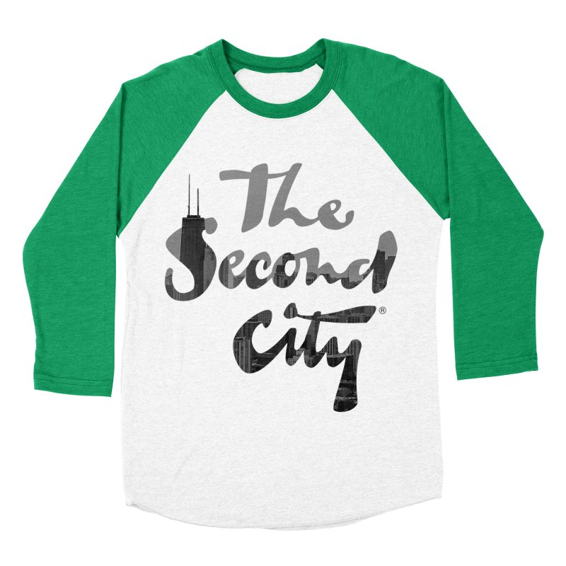 Stacked Skyline Women's Baseball Triblend Longsleeve T-Shirt by secondcity's Artist Shop