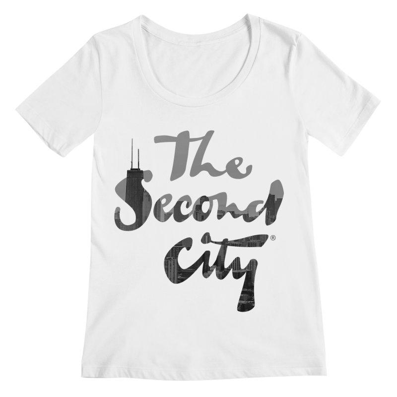 Stacked Skyline Women's Regular Scoop Neck by secondcity's Artist Shop