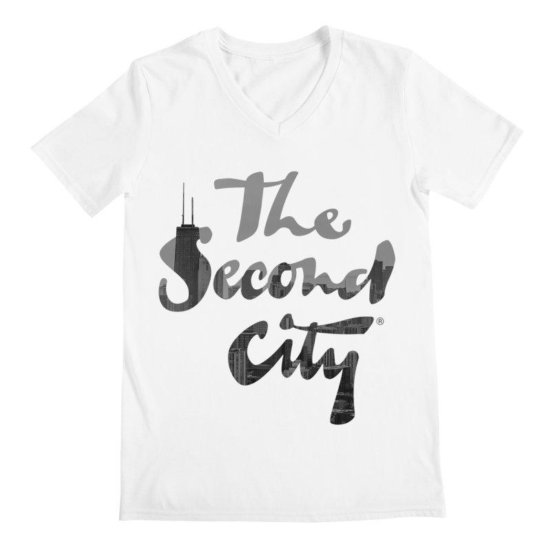Stacked Skyline Men's Regular V-Neck by secondcity's Artist Shop