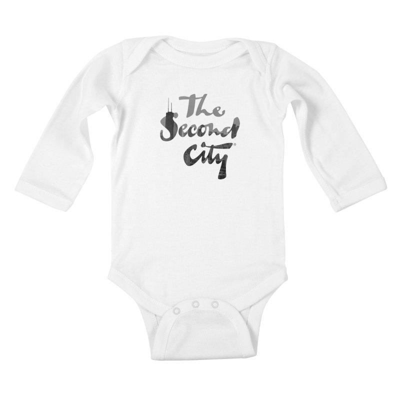Stacked Skyline Kids Baby Longsleeve Bodysuit by The Second City