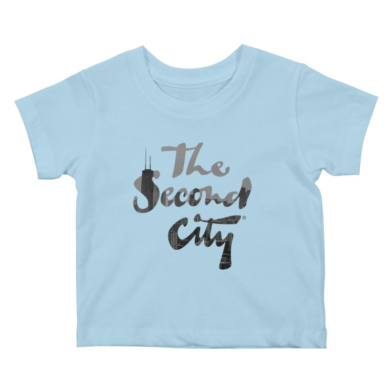 Stacked Skyline Kids Baby T-Shirt by The Second City