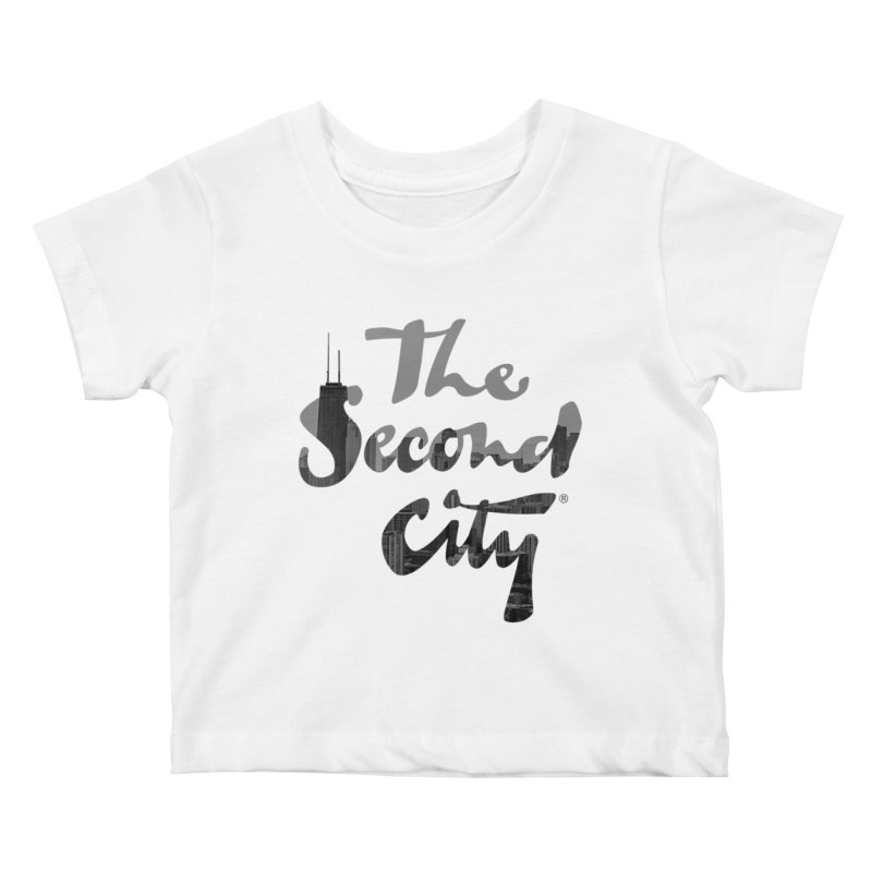 Stacked Skyline Kids Baby T-Shirt by secondcity's Artist Shop