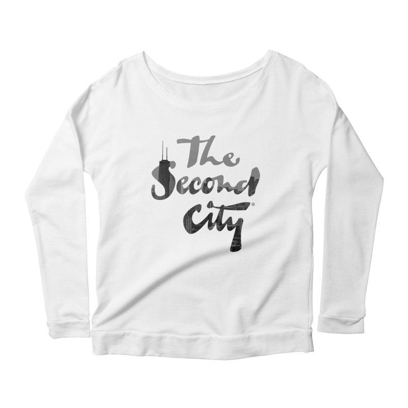 Stacked Skyline Women's Scoop Neck Longsleeve T-Shirt by secondcity's Artist Shop