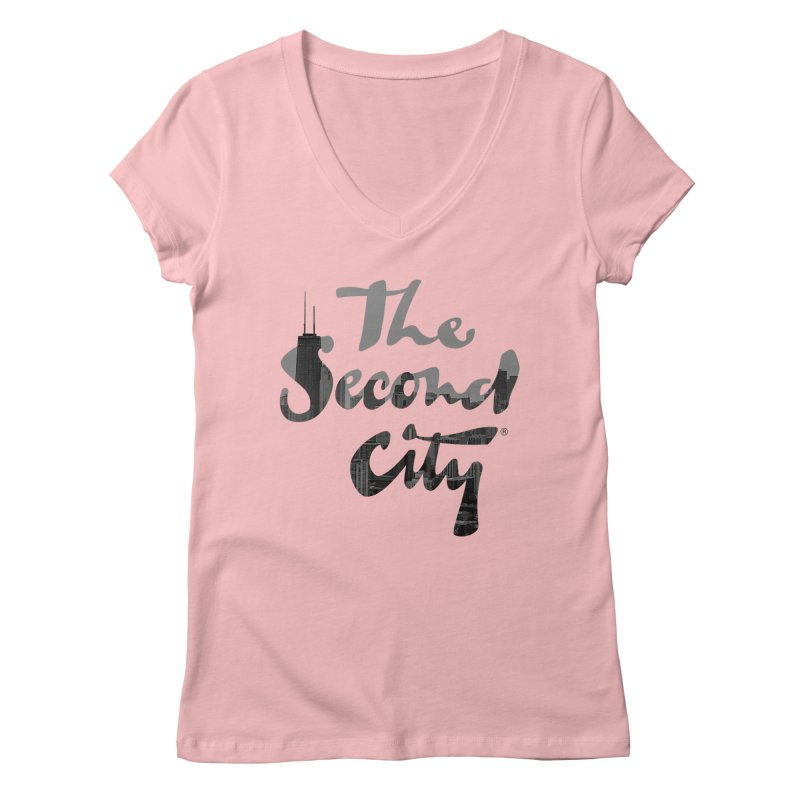 Stacked Skyline Women's Regular V-Neck by The Second City