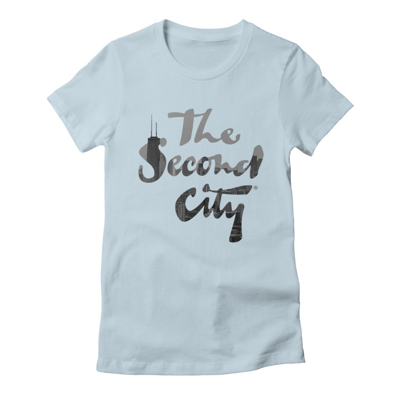 Stacked Skyline Women's Fitted T-Shirt by secondcity's Artist Shop