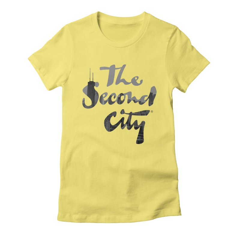 Stacked Skyline Women's Fitted T-Shirt by The Second City