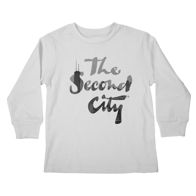 Stacked Skyline Kids Longsleeve T-Shirt by secondcity's Artist Shop