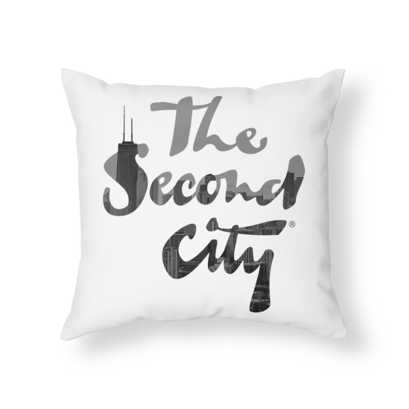 Stacked Skyline Home Throw Pillow by The Second City