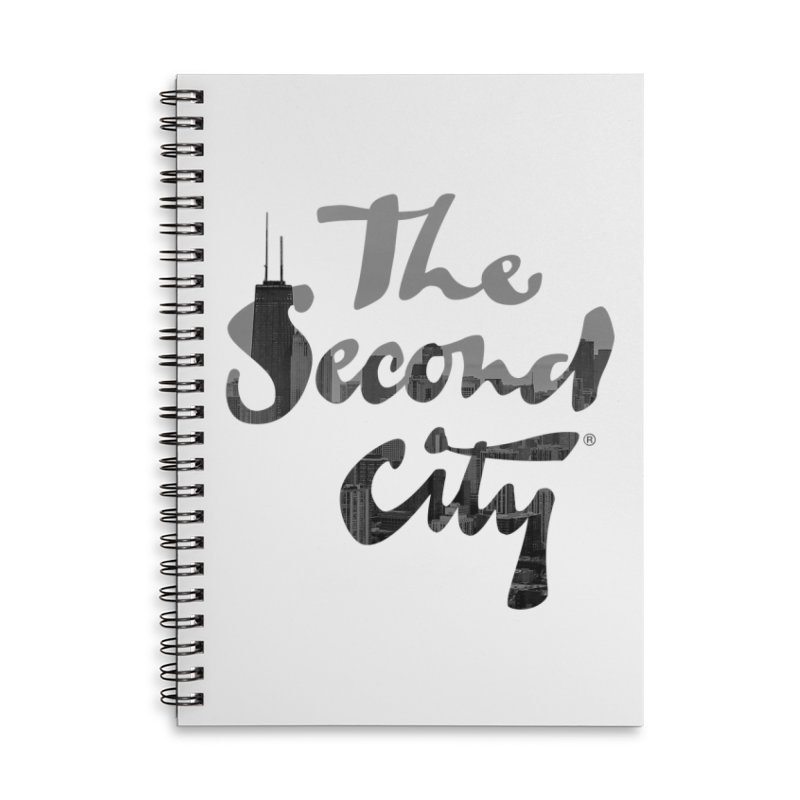 Stacked Skyline Accessories Lined Spiral Notebook by The Second City