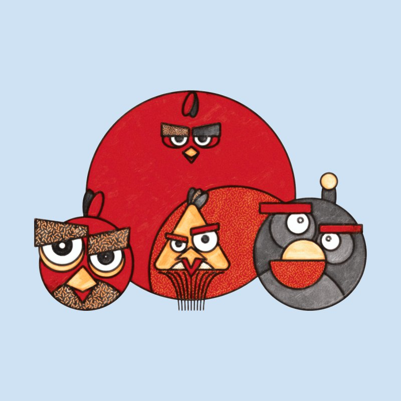 Angry Birds Men's T-shirt by Sedkialimam's Artist Shop