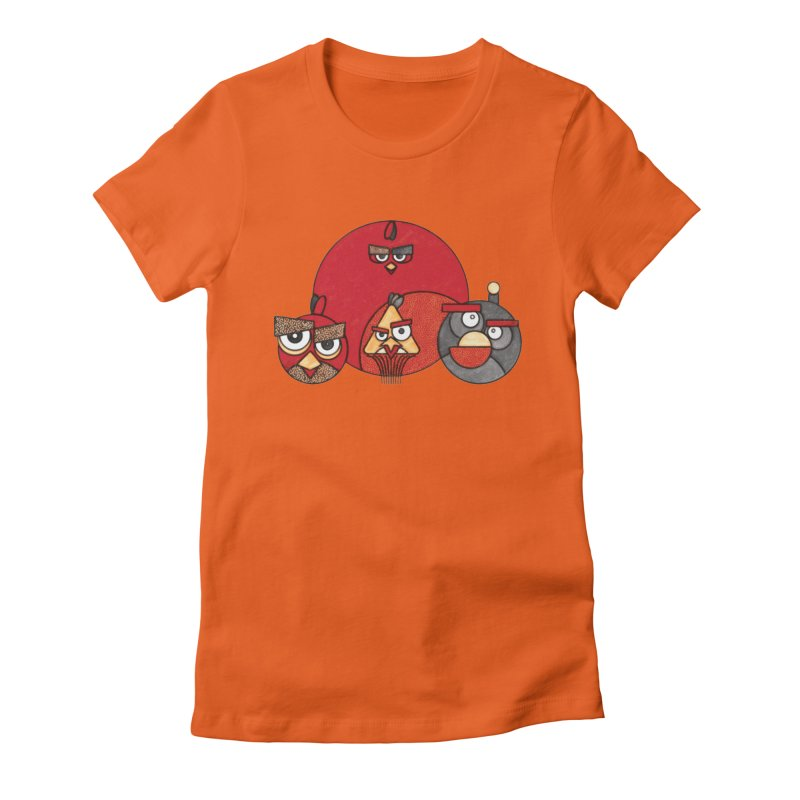 Angry Birds Women's Fitted T-Shirt by Sedkialimam's Artist Shop