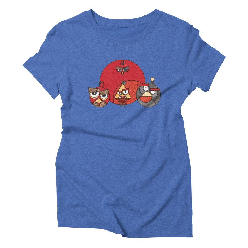 Angry Birds Women's Triblend T-Shirt by Sedkialimam's Artist Shop