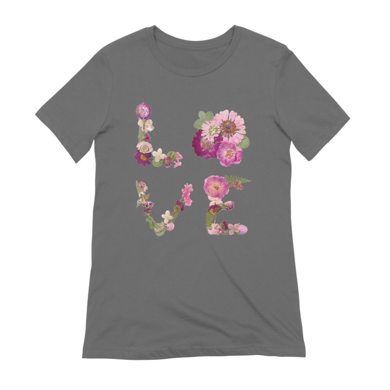 LOVE Pressed Flower Women's T-Shirt by Seek & Bloom Creative Co