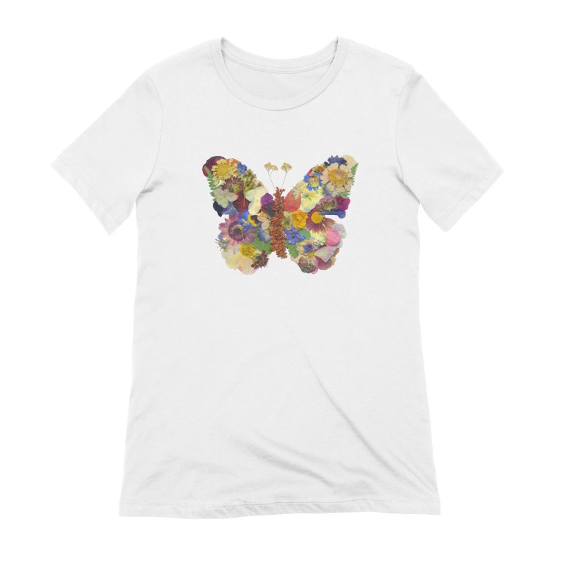 Butterfly pressed flower Women's T-Shirt by Seek & Bloom Creative Co