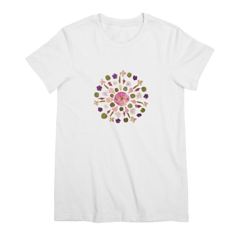 Mandala Flower Design Women's T-Shirt by Seek & Bloom Creative Co