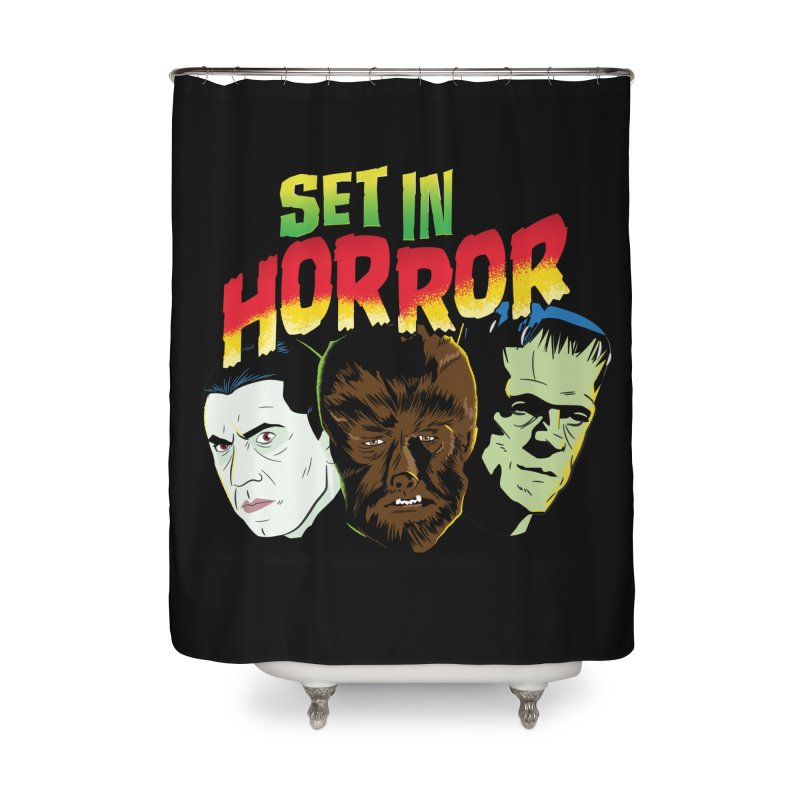 Set in Horror 2019 Logo Home Shower Curtain by See Monsters's Artist Shop