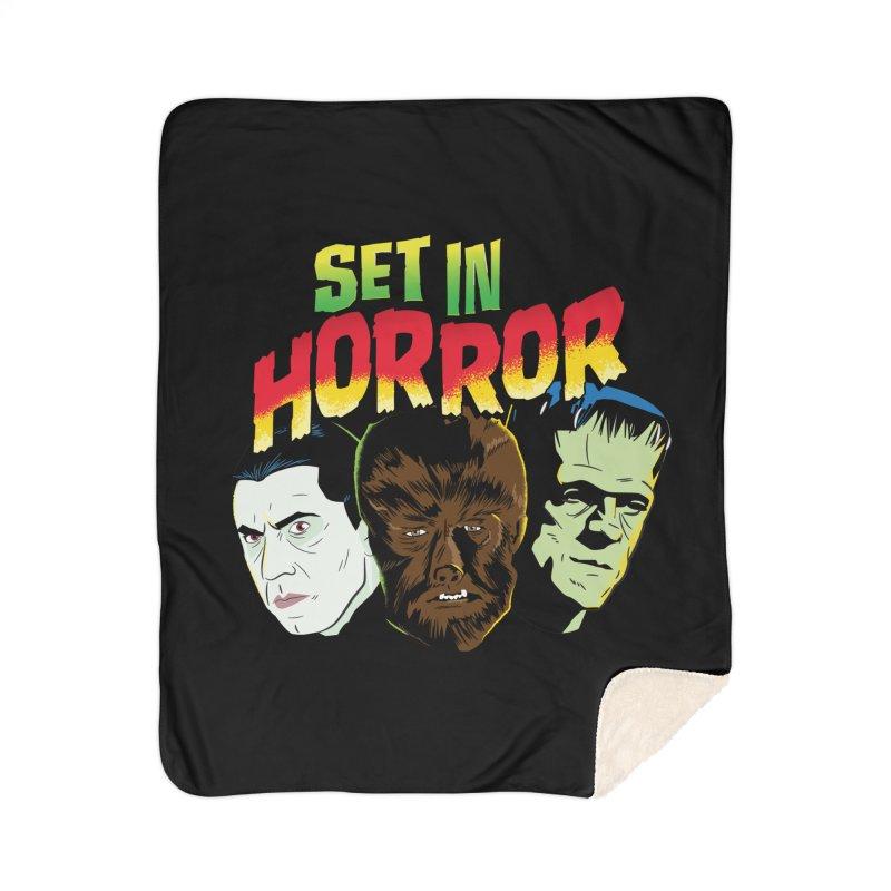 Set in Horror 2019 Logo Home Sherpa Blanket Blanket by See Monsters's Artist Shop