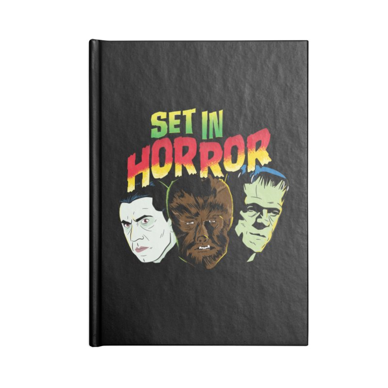 Set in Horror 2019 Logo Accessories Lined Journal Notebook by See Monsters's Artist Shop