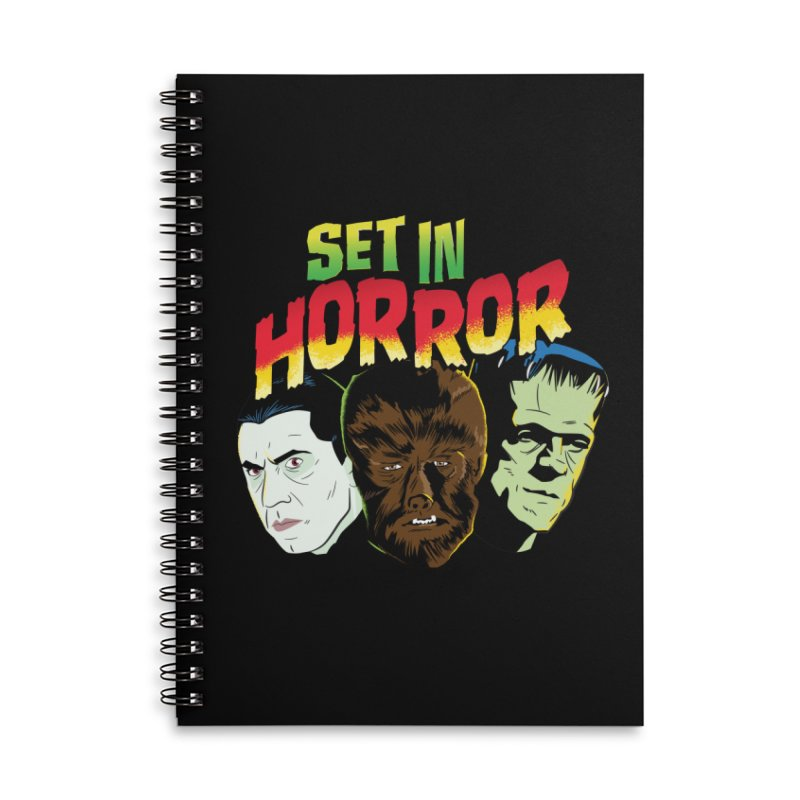 Set in Horror 2019 Logo Accessories Lined Spiral Notebook by See Monsters's Artist Shop