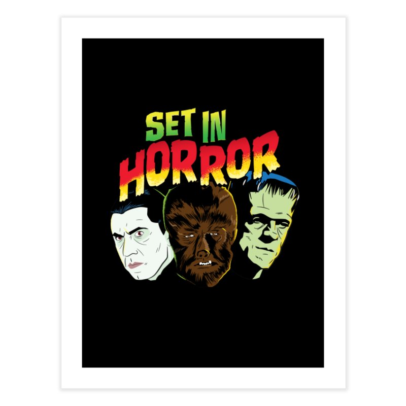 Set in Horror 2019 Logo Home Fine Art Print by See Monsters's Artist Shop