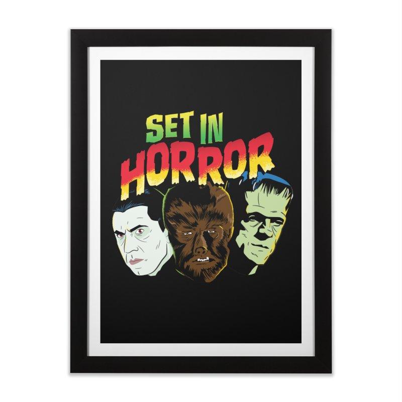 Set in Horror 2019 Logo Home Framed Fine Art Print by See Monsters's Artist Shop