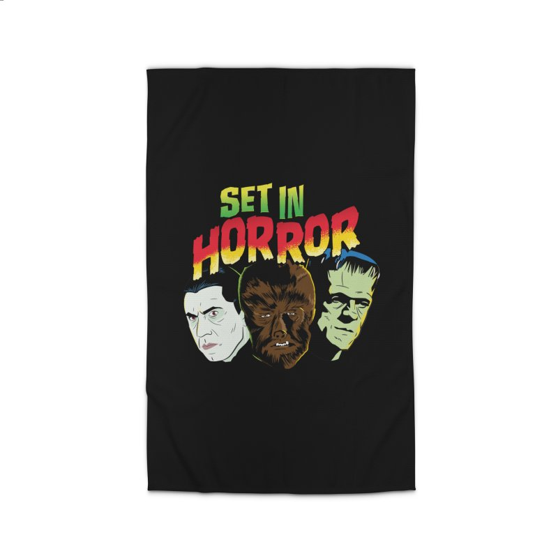 Set in Horror 2019 Logo Home Rug by See Monsters's Artist Shop