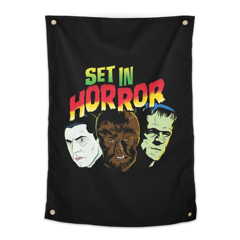 Set in Horror 2019 Logo Home Tapestry by See Monsters's Artist Shop