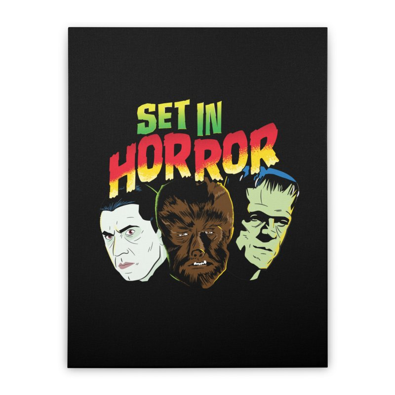 Set in Horror 2019 Logo Home Stretched Canvas by See Monsters's Artist Shop