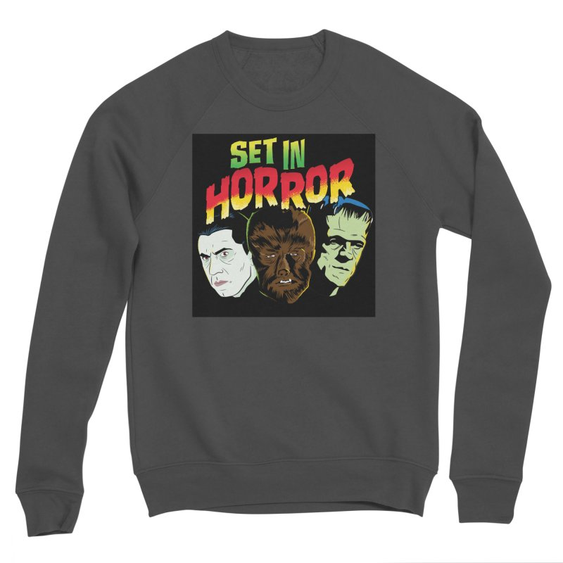 Set in Horror 2019 Logo Men's Sponge Fleece Sweatshirt by See Monsters's Artist Shop