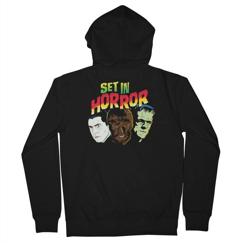 Set in Horror 2019 Logo Men's French Terry Zip-Up Hoody by See Monsters's Artist Shop