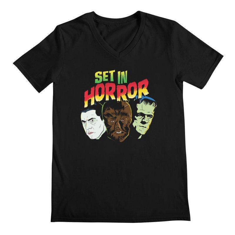 Set in Horror 2019 Logo Men's Regular V-Neck by See Monsters's Artist Shop
