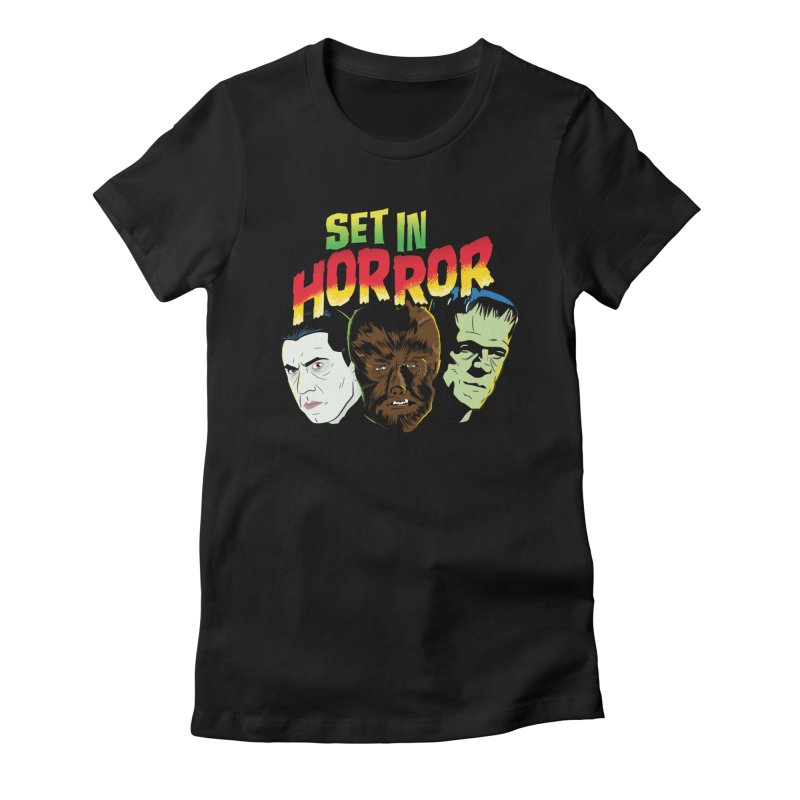 Set in Horror 2019 Logo Women's Fitted T-Shirt by See Monsters's Artist Shop