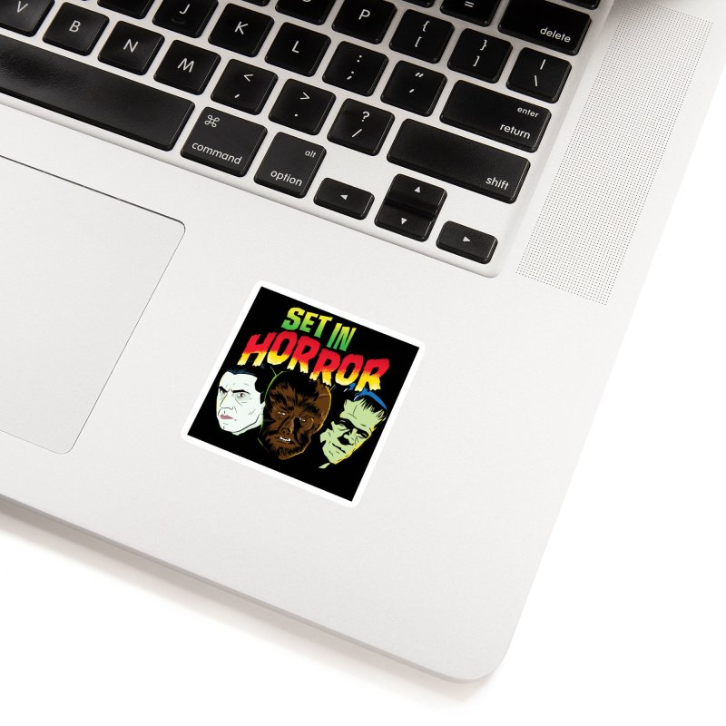 Set in Horror 2019 Logo Accessories Sticker by See Monsters's Artist Shop