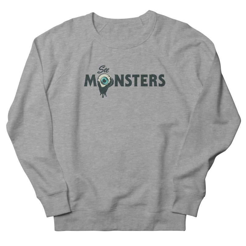 See Monsters Main Logo in Men's French Terry Sweatshirt Heather Graphite by See Monsters's Artist Shop