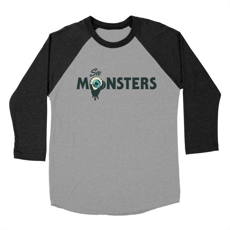 See Monsters Main Logo in Men's Baseball Triblend Longsleeve T-Shirt Heather Onyx Sleeves by See Monsters's Artist Shop