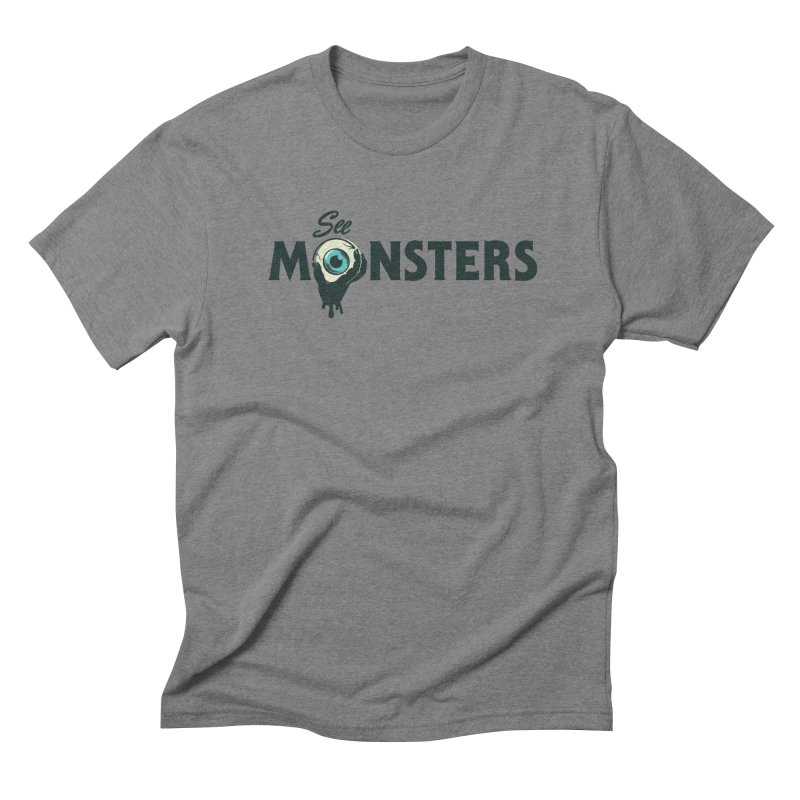 See Monsters Main Logo in Men's Triblend T-Shirt Grey Triblend by See Monsters's Artist Shop