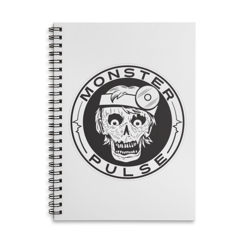 Monster Pulse Accessories Lined Spiral Notebook by See Monsters's Artist Shop