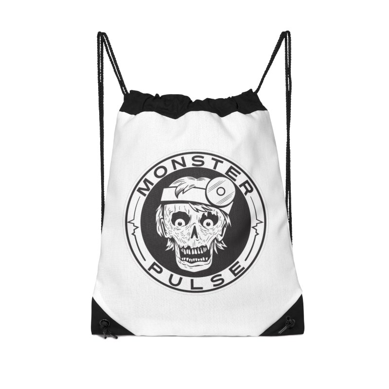 Monster Pulse Accessories Drawstring Bag Bag by See Monsters's Artist Shop