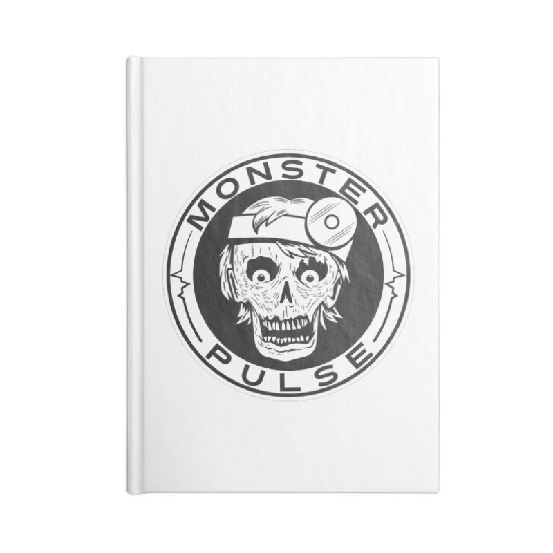 Monster Pulse Accessories Lined Journal Notebook by See Monsters's Artist Shop