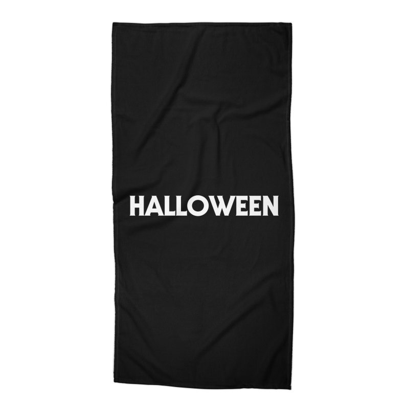Halloween Accessories Beach Towel by See Monsters's Artist Shop