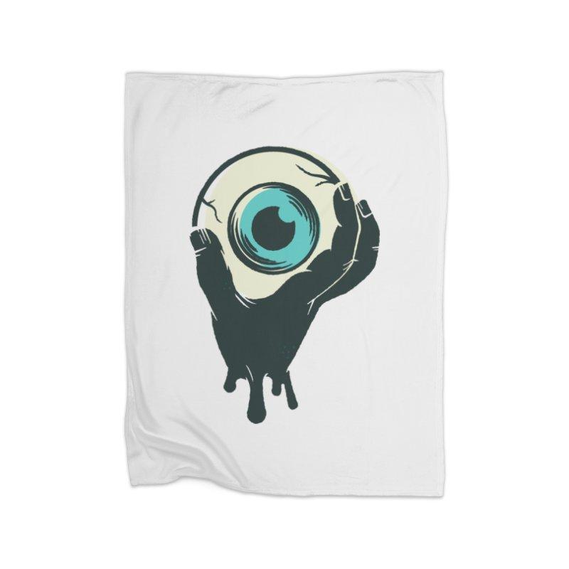 The Eye Home Fleece Blanket Blanket by See Monsters's Artist Shop