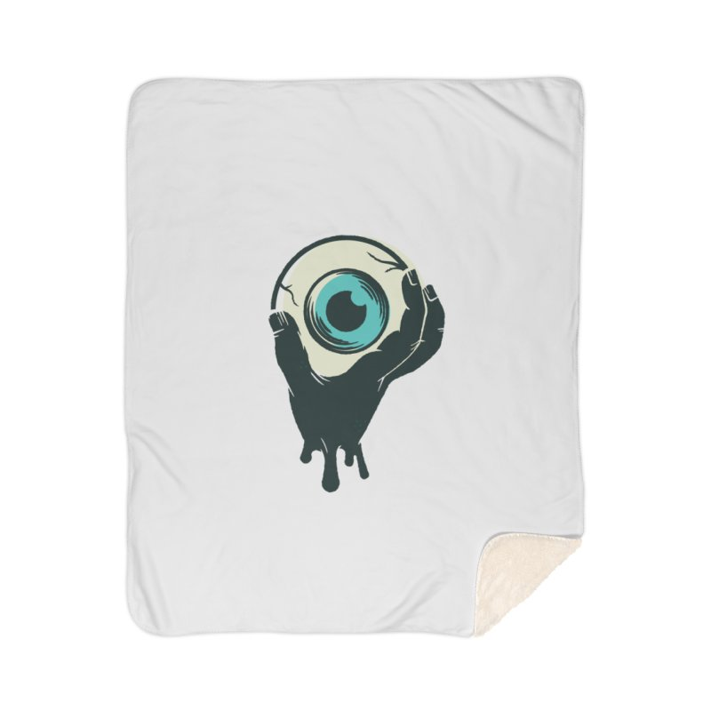 The Eye Home Sherpa Blanket Blanket by See Monsters's Artist Shop